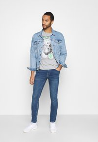 Brave Soul - FRANKLIN - Print T-shirt - light grey marl - 1