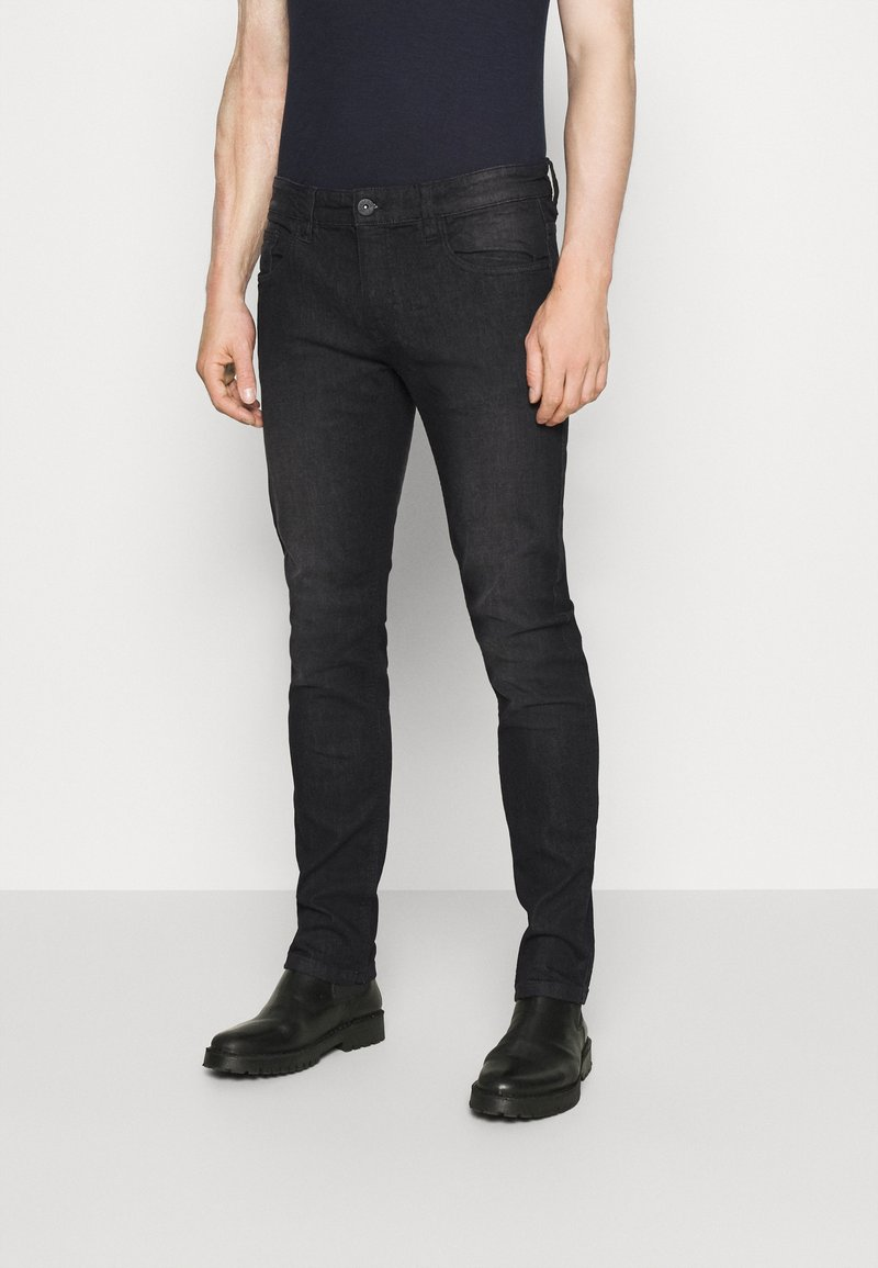 INDICODE JEANS - PITTSBURG - Jeansy Slim Fit - ultra black
