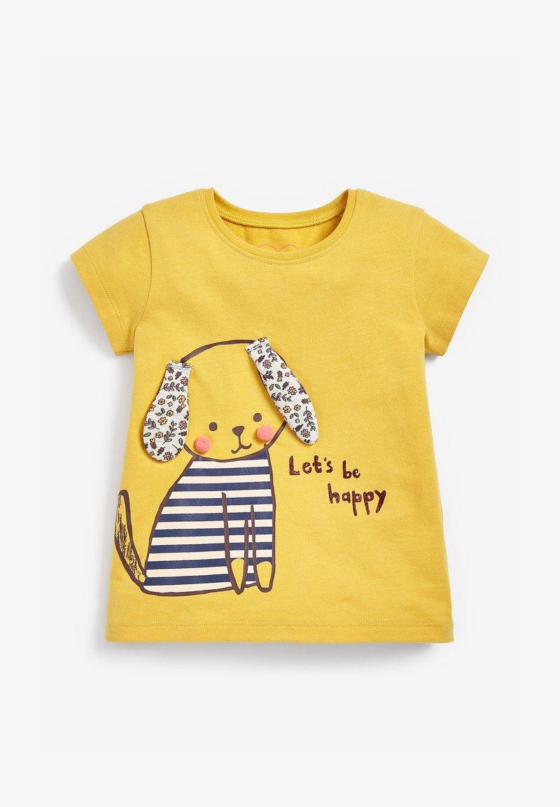 Next - DOG - Print T-shirt - ochre