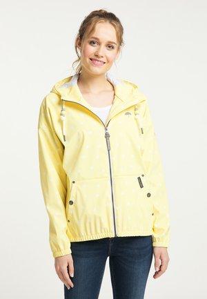 Waterproof jacket - hellgelb aop