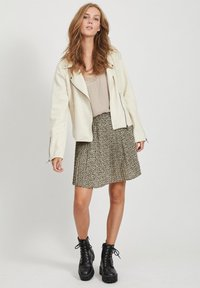Vila - Faux leather jacket - birch - 1