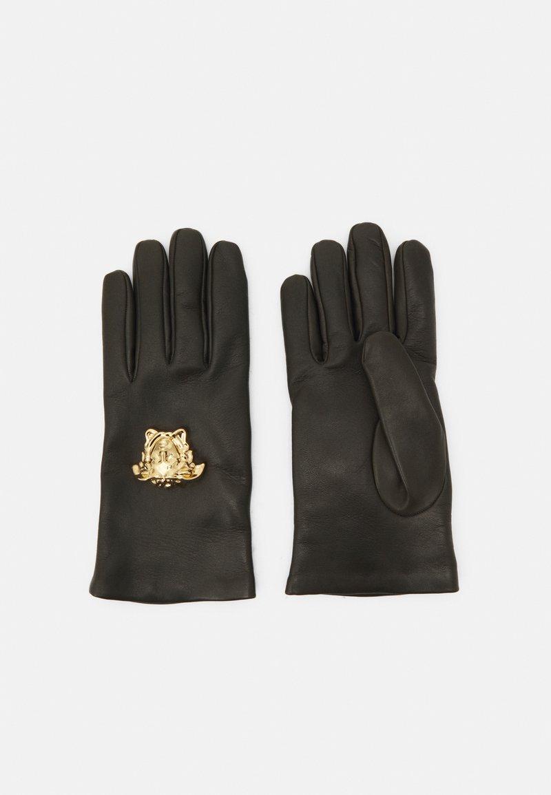 Versace - GLOVES UNISEX - Gloves - kaki/gold-coloured