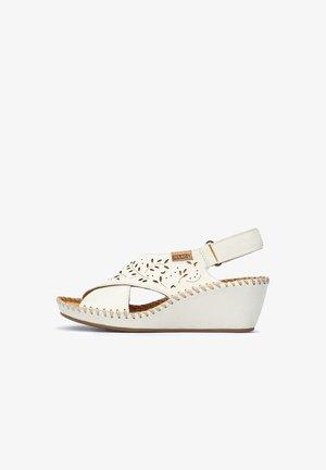 MARGARITA  - Wedge sandals - white
