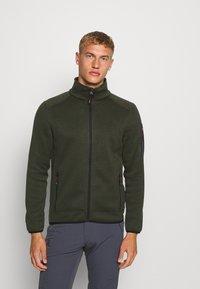 CMP - MAN JACKET - Fleecová bunda - oil green/burgundy - 0
