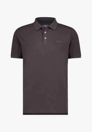 Polo shirt - dark-brown plain