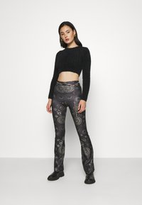 Topshop - ASTROLOGY FLARE - Leggings - Trousers - black - 3