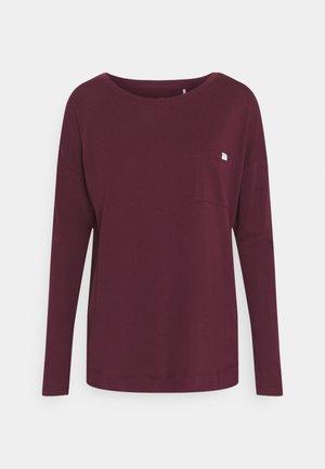 CREW NECK - Pyjama top - burgund