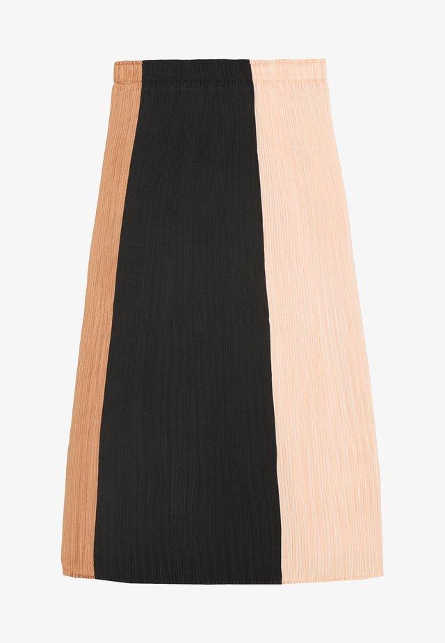 PLISSE SLIP SKIRT - Gonna a campana - cinnamon/peach/black