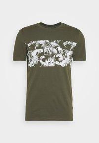 T-shirt med print - oliv