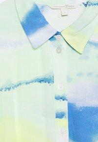 TOM TAILOR DENIM - MIDI TIE DYE DRESS - Maxi dress - green/blue - 2