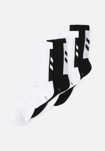 LEGACY CHEVRON SOCKS MIX 4 PACK UNISEX - Sports socks - white/black