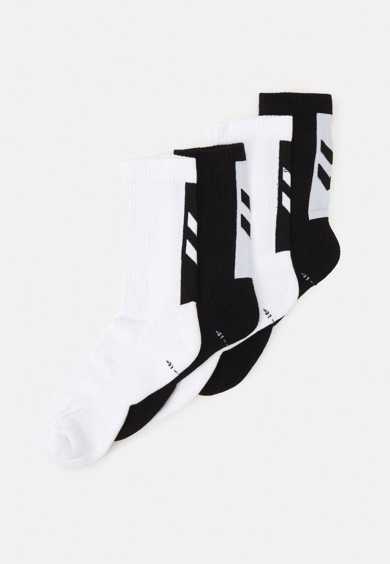 Hummel - LEGACY CHEVRON SOCKS MIX 4 PACK UNISEX - Sports socks - white/black