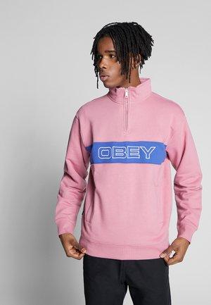 COURT ZIP MOCK - Sweatshirts - cassis multi