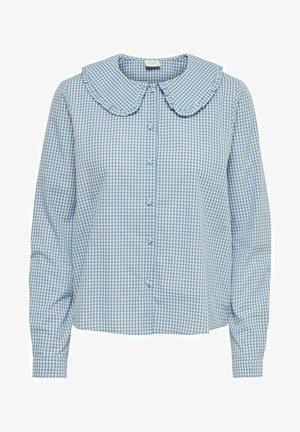 Button-down blouse - coronet blue