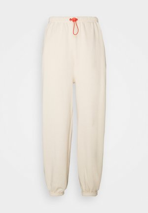 Loose Fit Joggers with Contrast - Pantaloni sportivi - off-white