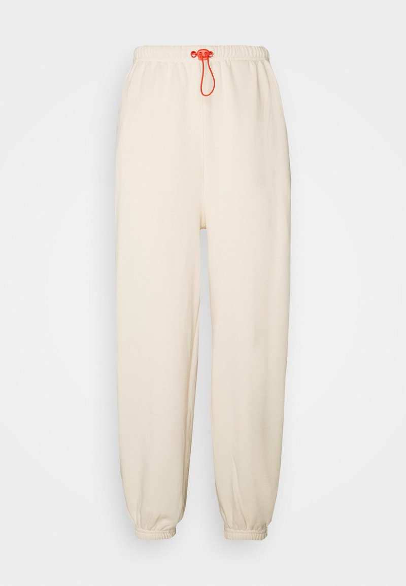 Even&Odd - Loose Fit Joggers with Contrast - Tracksuit bottoms - off-white