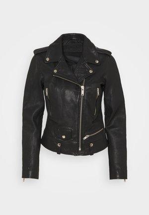 MICHELLE BIKER - Leather jacket - black