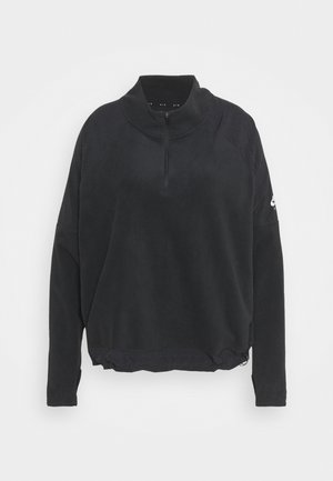 AIR MIDLAYER - Fleece jumper - black/silver