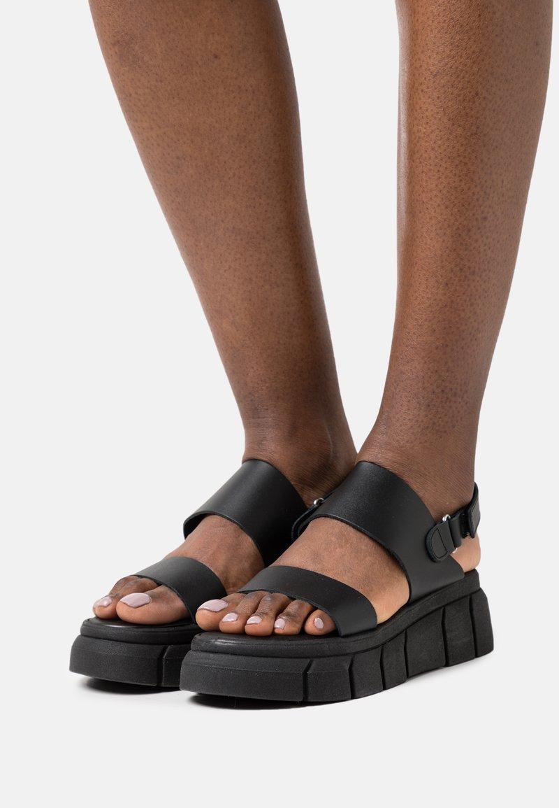 Kaltur - Sandały na platformie - black