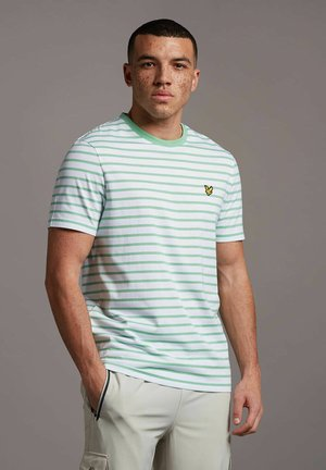T-shirt med print - sea mint white