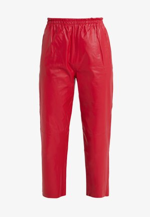 TOAST PANTALONE - Leather trousers - rosso rio