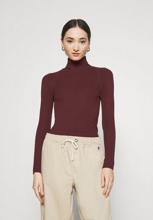 ONLELLY ROLLNECK - Jumper - tawny port