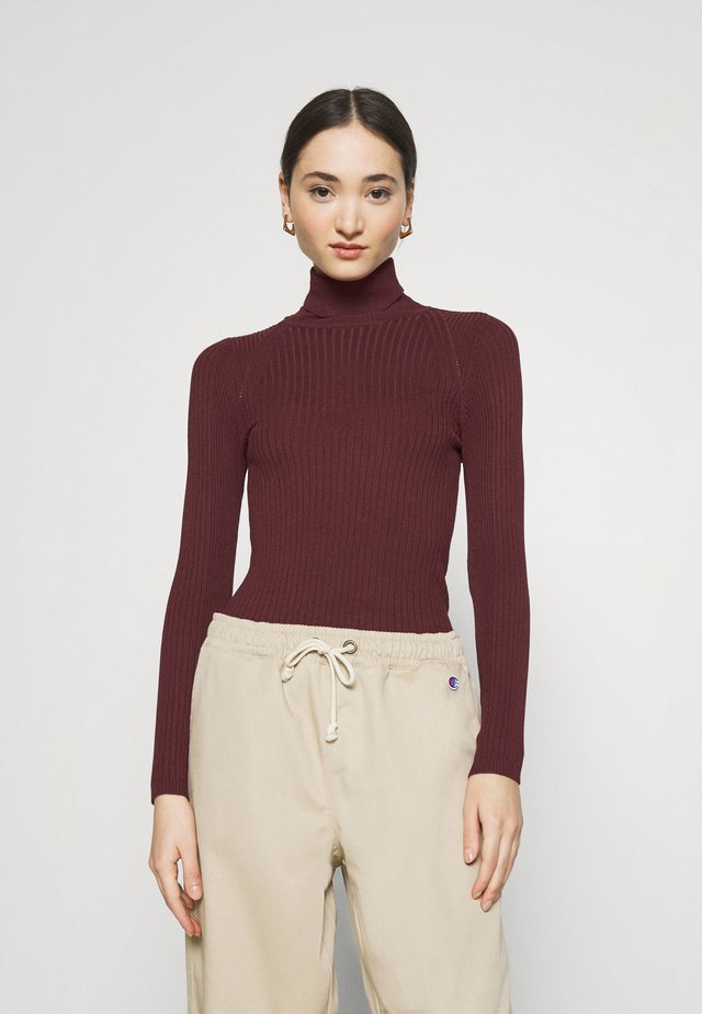 ONLELLY ROLLNECK - Maglione - tawny port
