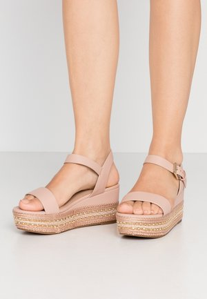 WIDE FIT MAUMA - Platform sandals - other pink