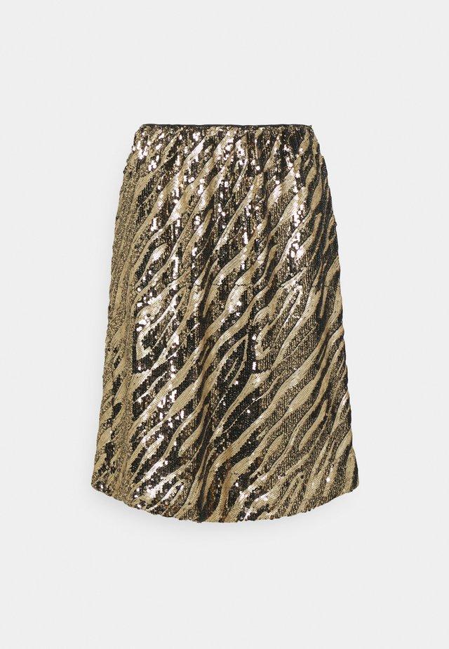 DEBORSZ SKIRT - Mini skirt - gold