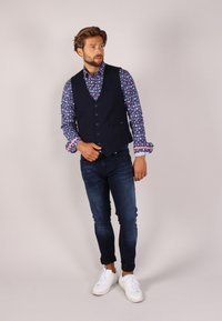 Gabbiano - Suit waistcoat - denim - 1