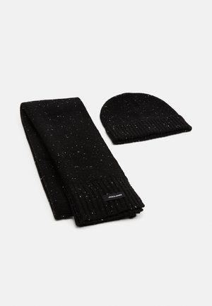 JACNAP BEANIE SCARF GIFTBOX SET - Szal - black