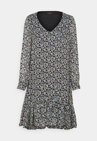 Marc O'Polo - DRESS FLUENT SHORT STYLE V NECK - Day dress - multi - 0