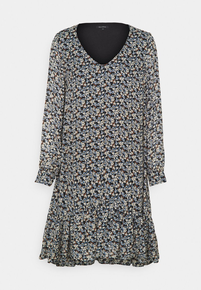 Marc O'Polo - DRESS FLUENT SHORT STYLE V NECK - Day dress - multi
