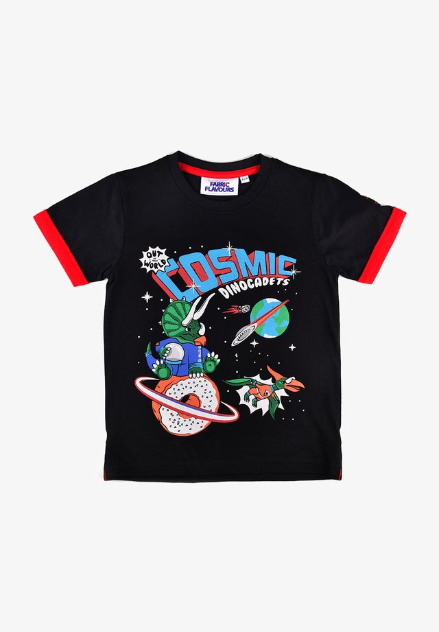 OUT OF THIS WORLD COSMIC GRAPHIC TEE - Print T-shirt - black