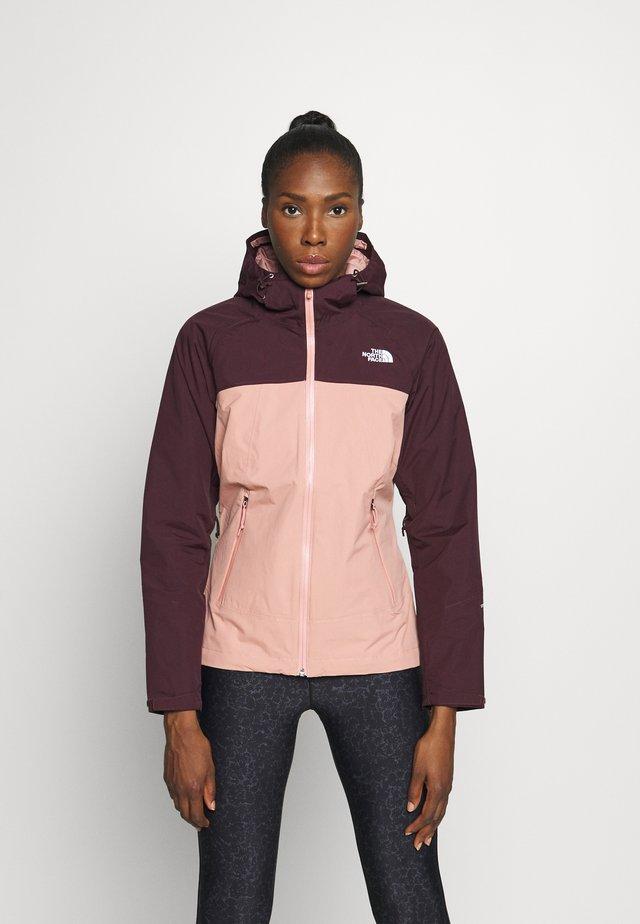 STRATOS JACKET - Hardshell jacket - pinkclay/root