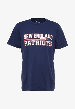 NFL STACKED WORDMARK TEE NEW ENGLAND PATRIOTS - Print T-shirt - oceanside blue