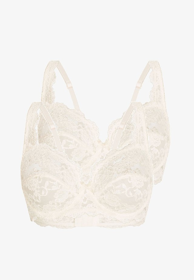 2 PACK - Underwired bra - pearl