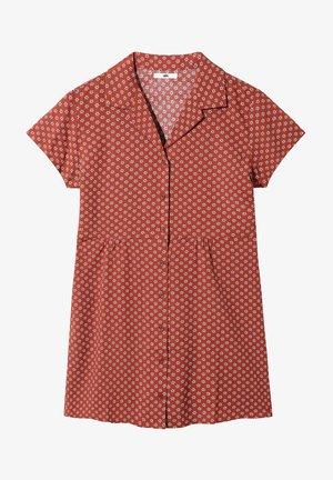 WM TIPPE - Korte jurk - henna