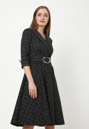NENSI - Shift dress - schwarz, grün