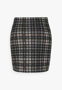 JDY - JDYCALLE SHORT PENCIL SKIRT - Mini skirt - black/silver mink /white - 1