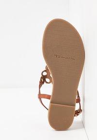 Tamaris - T-bar sandals - brandy - 6