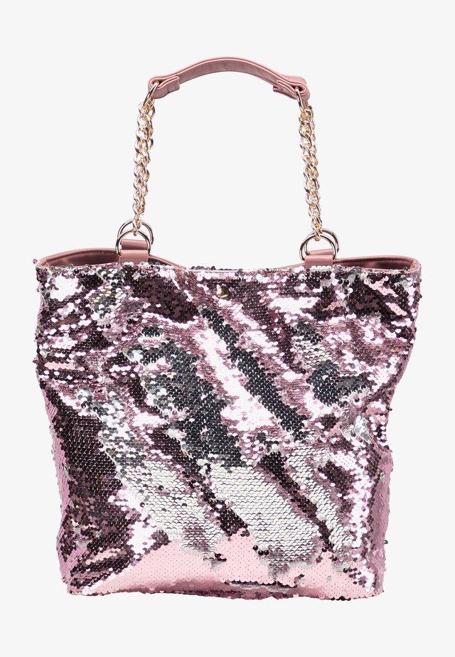 Tote bag - rosa silber