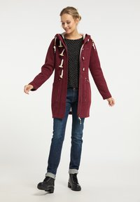 Schmuddelwedda - Short coat - bordeaux melange - 1