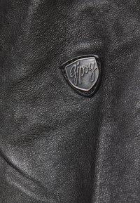 Gipsy - GGNIDEL LAMAS - Kožená bunda - black - 3
