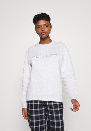Sweatshirt - ash heather/white