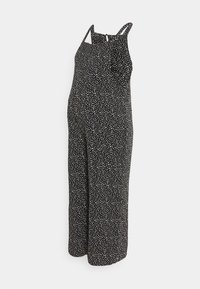 New Look Maternity - EC ZOYA SPOT HBONE POCKET  - Jumpsuit - black - 0