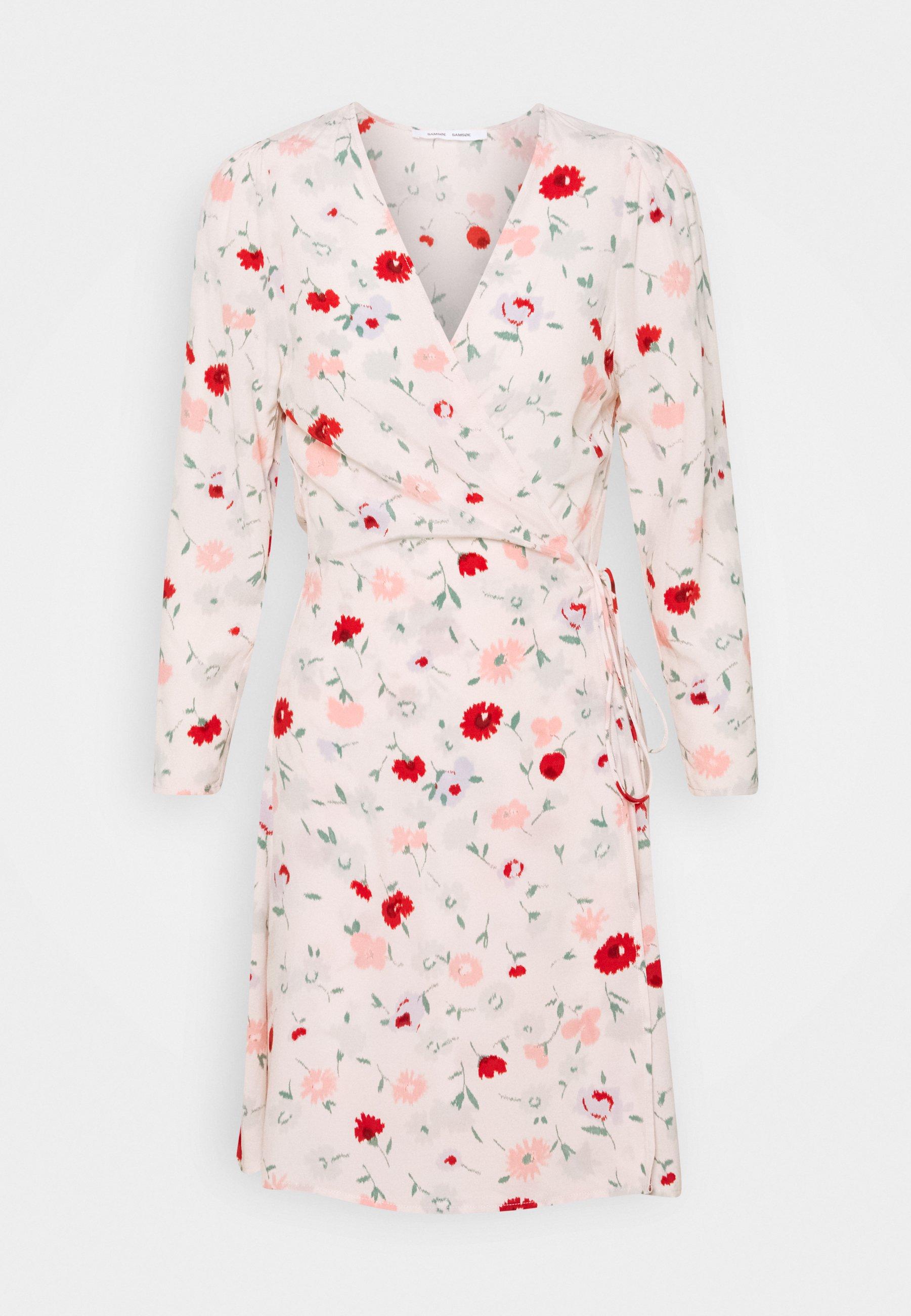 Women BRITT WRAP DRESS - Day dress - pink