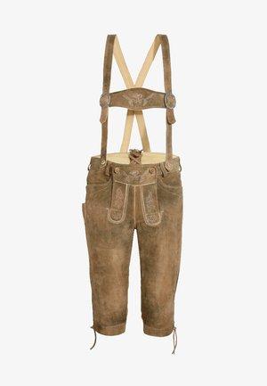 VITTORIO - Leather trousers - braun