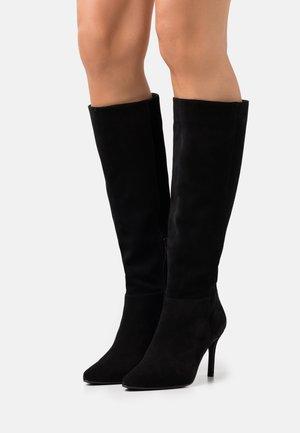 BIADANGY  - Kozačky na vysokém podpatku - black