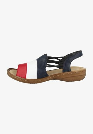 Sandals - red-white-pacific